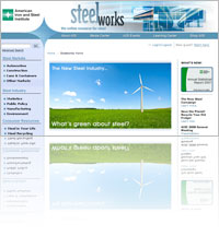 A Snapshot of American Iron & Steel Institute (AISI) website