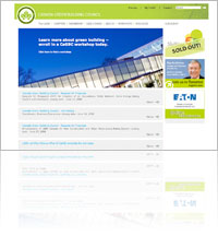 A Snapshot of Canadian Green Building Council (CaGBC) website