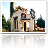 Destroyed Home as a cause of harsh natural conditions