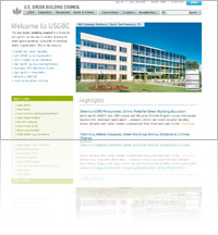 A Snapshot of Green Building Council (USGB) website